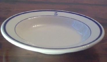 us navy soup bowl, anchor