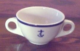 us navy bouillon cup, anchor