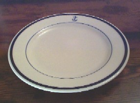 us navy navy dinner plate, anchor