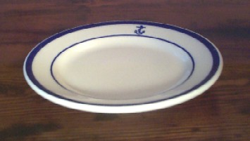 us navy salad plate, anchor