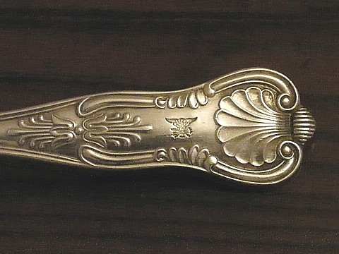 navy captain silverware war eagle clutching arrows