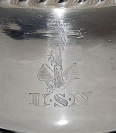 us navy officers mess silverplated serving dish with handles reed and barton 1942