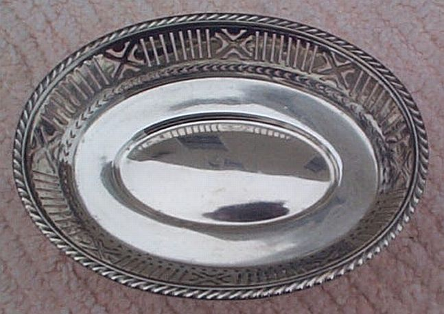 2 star rear admiral cabin candy dish, silverplated holloware