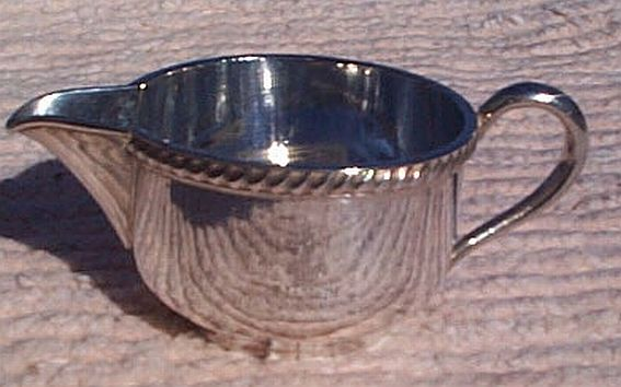 1944 and 1943 US Navy Wardroom Officers Mess Personal Creamer with Fouled Anchor and USN