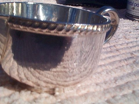 us navy officers mess silverplated personal creamer