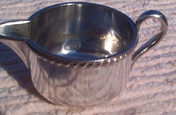 1940s US Navy Wardroom Officers Mess Personal Creamer with Fouled Anchor and USN backstamp