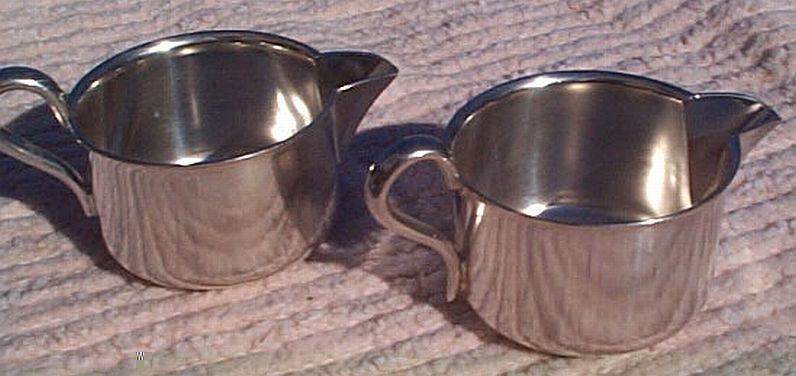 1944 and 1943 US Navy Wardroom Officers Mess Personal Creamer with USN backstamp