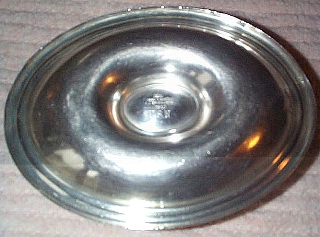 wardroom officers mess gravy boat dated 1944, silverplated holloware