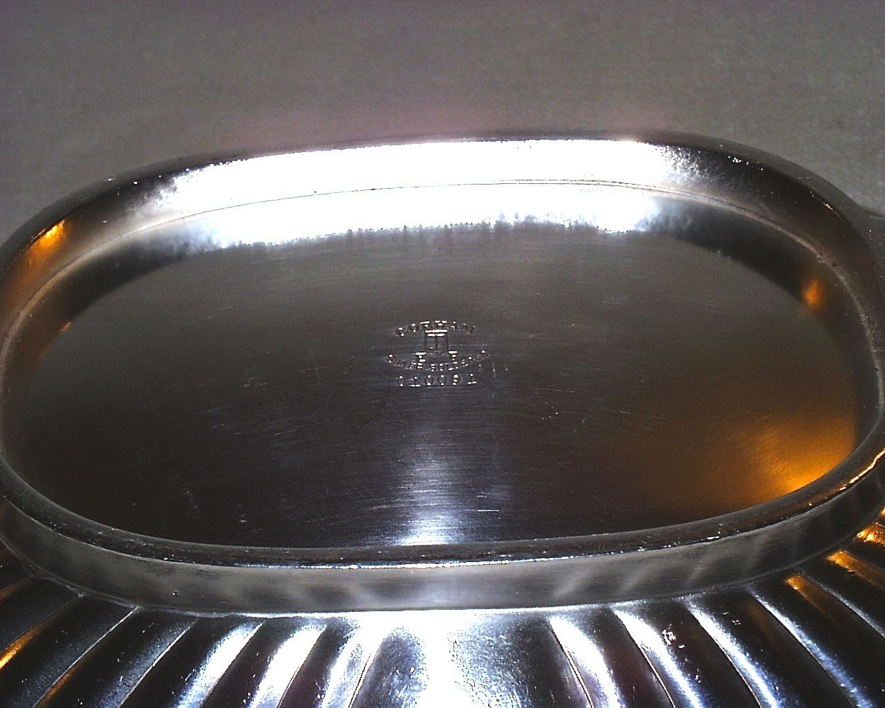 us navy captains mess silverplated serving dish with handles Gorham WWI WWII