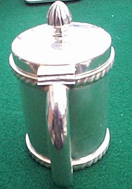 silverplated us navy mustard pot or jam and jelly jar