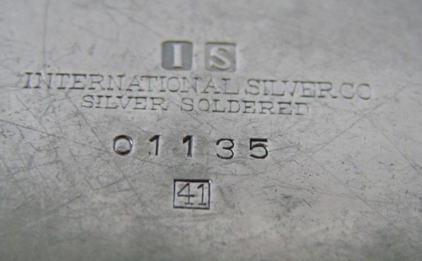 backstamp us navy 2 star rear admirals silverplated desktop cigarette holder