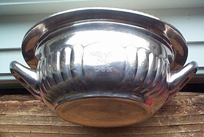 us navy captains mess silverplated serving casserole dish with handles