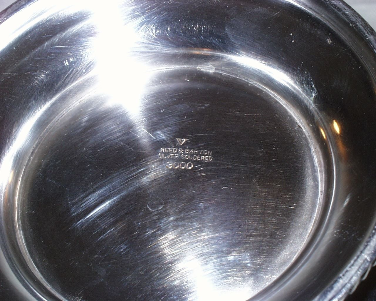 us navy wardroom mess silverplated serving bowl with handles reed and barton 1942