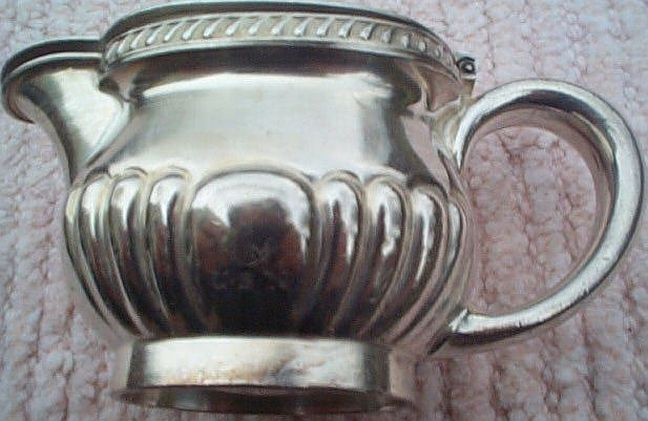 us navy officers mess silverplated lidded table creamer
