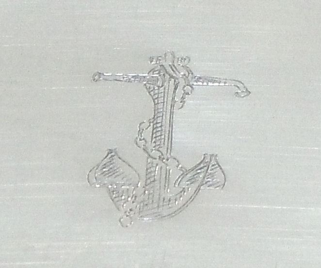 silverplated table crumber with fouled anchor
