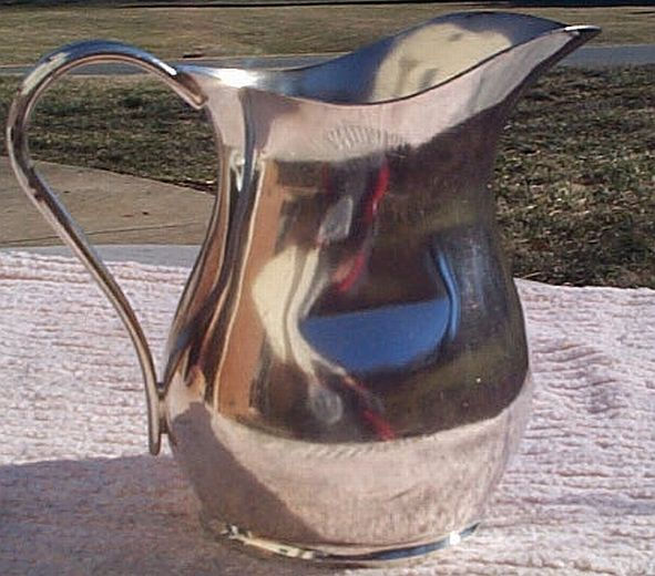 us navy officers mess silverplated table creamer pitcher 64oz reed and barton 1942