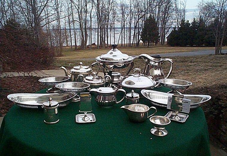 typical early 1900\u0027s to 1940\u0027s US Navy Officer\u0027s Wardroom Serving Pieces ... : antique silver plated trays - pezcame.com