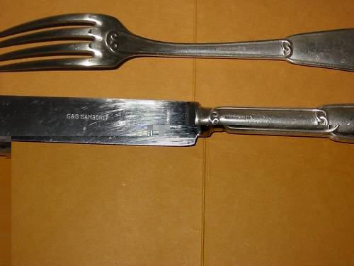 royal italian navy knife and fork bottom mark