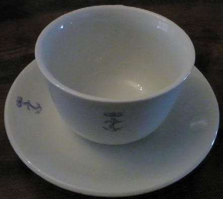 Italian Navy coffee cup and saucer
