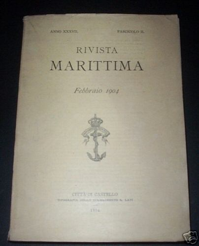 Imperial italian navy maritime magazine showing crown ca 1904