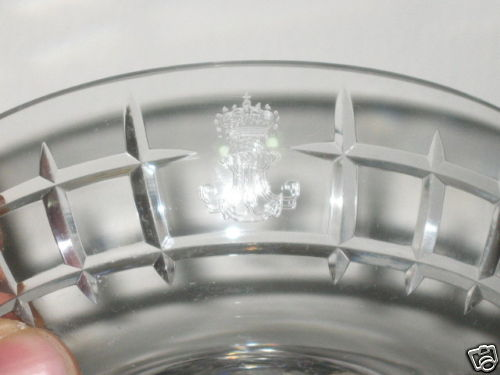 Italian Navy Crystal Punch Glass with Royal Navy Fouled Anchor