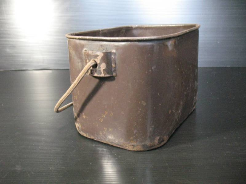 imperial japanese navy enlisted cream rice can or bucket bottom