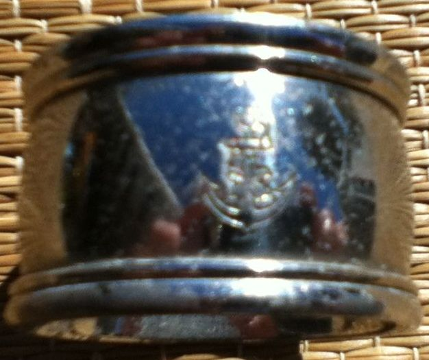 imperial japanese navy silverplate napkin ring