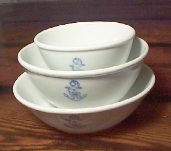 imperial japanese navy 3 piece rice, soup, noodle bowls