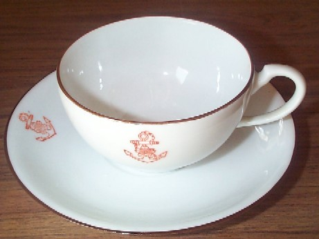imperial japanese navy formal coffee cup and saucer