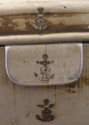 imperial japanese navy naval infantry field mess kit topmark anchor and cherry blossom