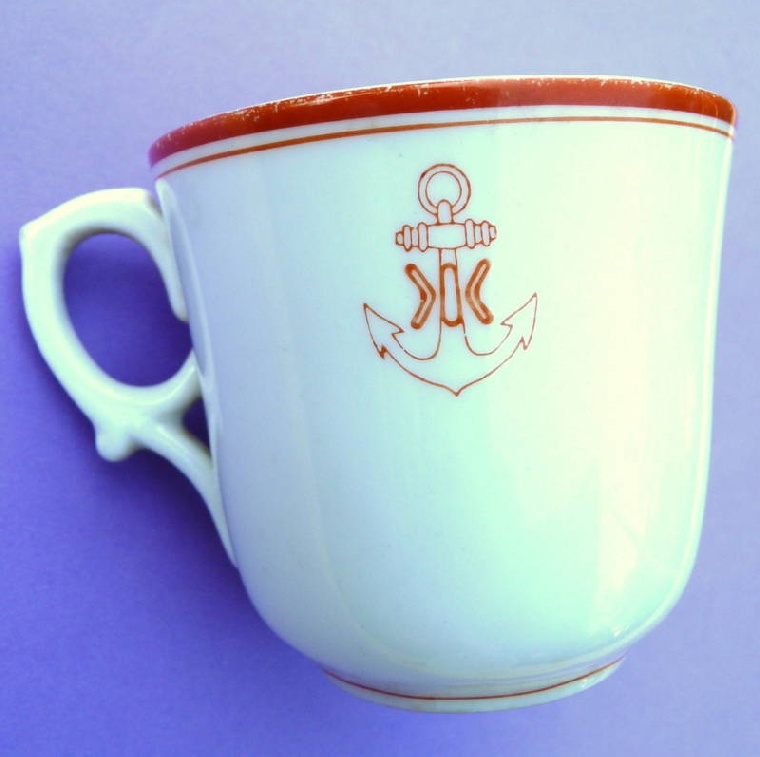 imperial japanese naval academy coffee cup found in nagasaki