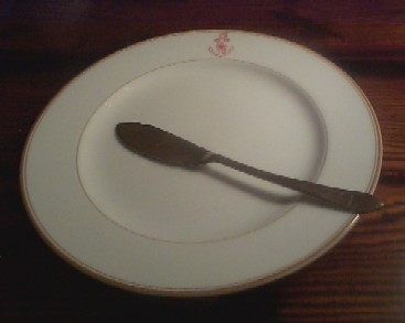 imperial japanese navy butter spreader and roll butter plate