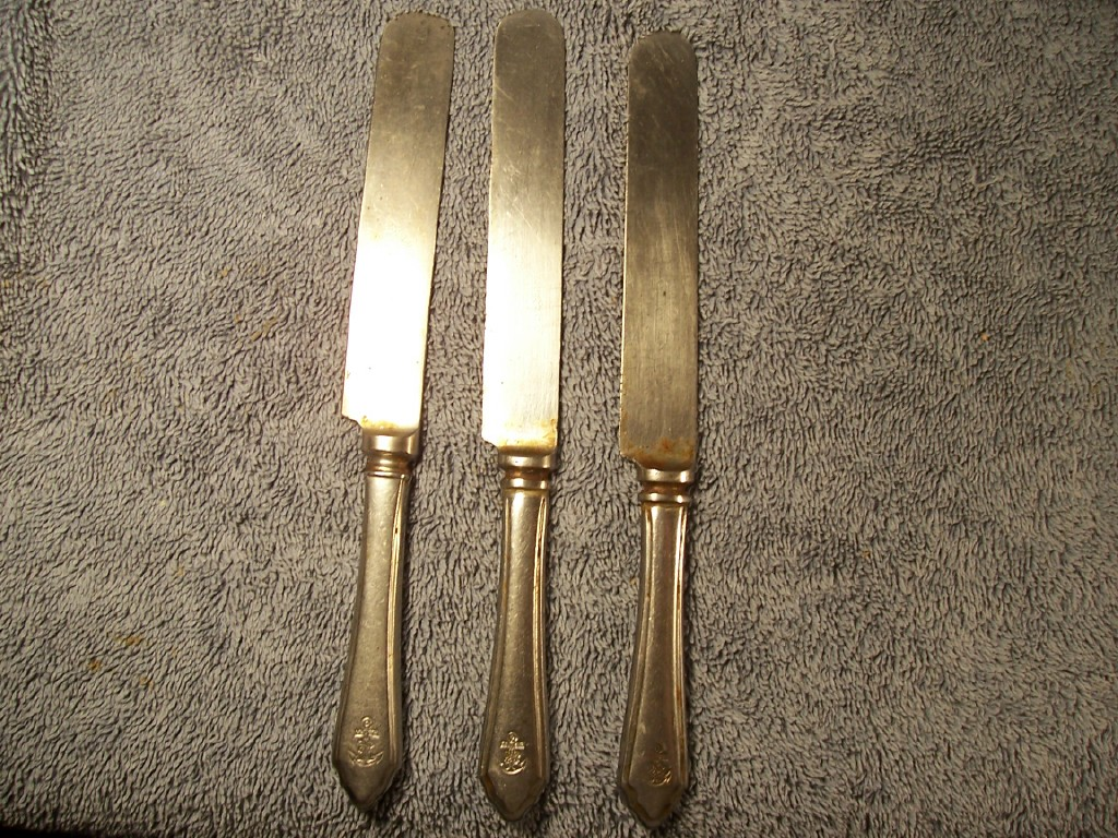 imperial japanese navy silverplate and stainless knife