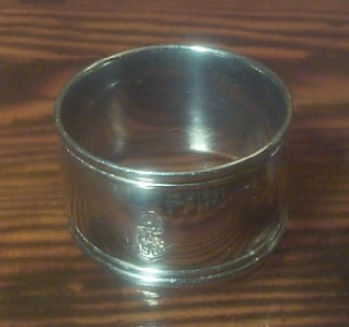 imperial japanese navy silverplated napkin ring