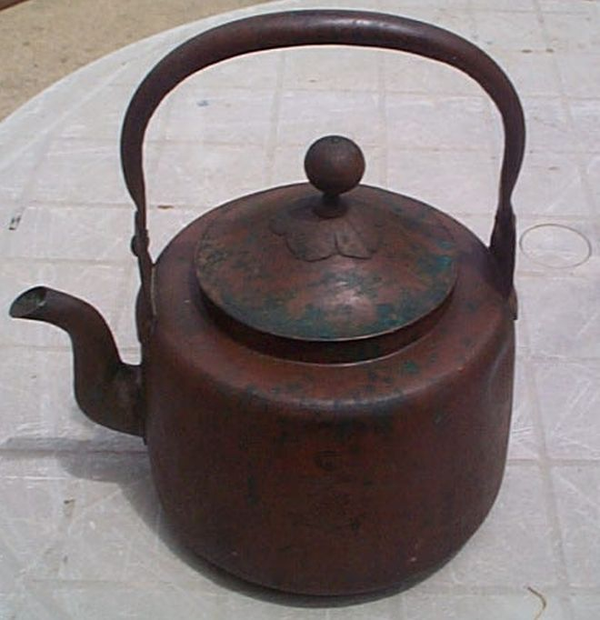 imperial japanese navy copper tea kettle