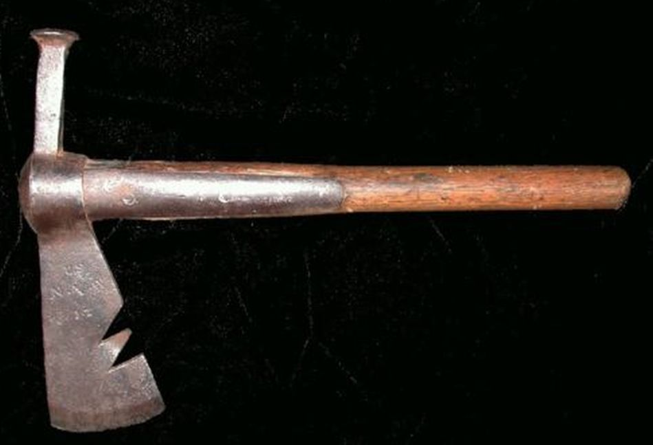 American Type III Naval Boarding Ax with Modified Peened Spike