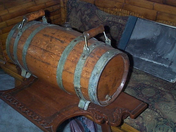 Antique Water Keg or Water Cask, Dual Handle, with Feet