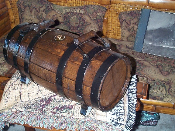 wooden water casks or water kegs