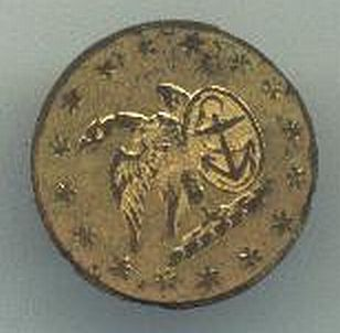Federal Navy Officers Button, War of 1812, 1790-1802 Production