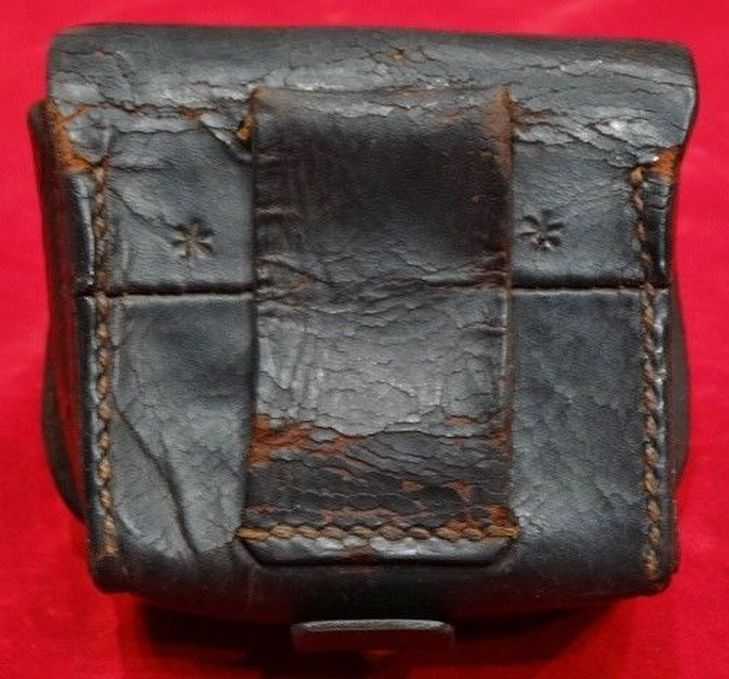 ca 1863 US Navy Leather Fuse Pouch