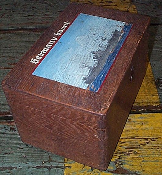 Vintage WWII American Sailors Ditty Box, Sea Chest or Sea Trunk