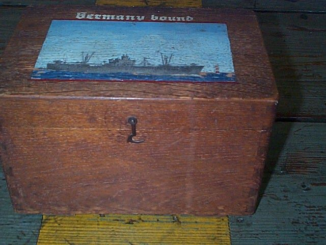 ditty box used by a us navy merchant marine WWII Liberty Ship sailor