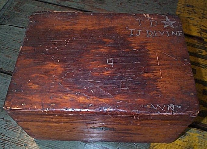 Antique Civil War Sailors Ditty Box, Sea Chest or Sea Trunk