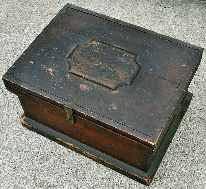 Antique 19th Century Sailors Ditty Box, Sea Chest or Sea Trunk