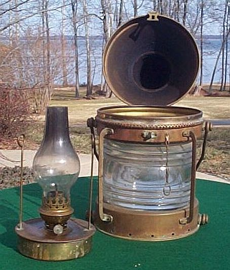 Antique Or Vintage Ships Navigation Lights Nautical