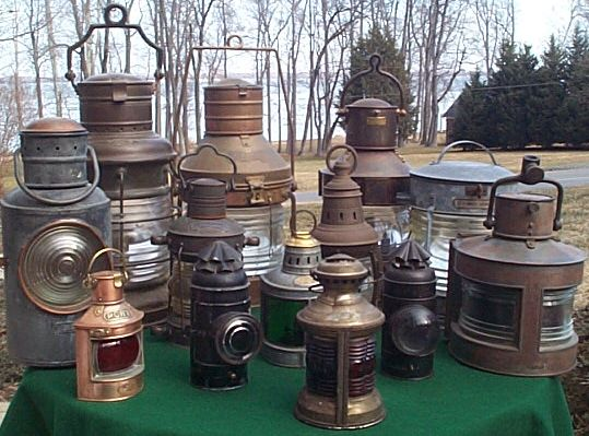 collection of ships navigation lights