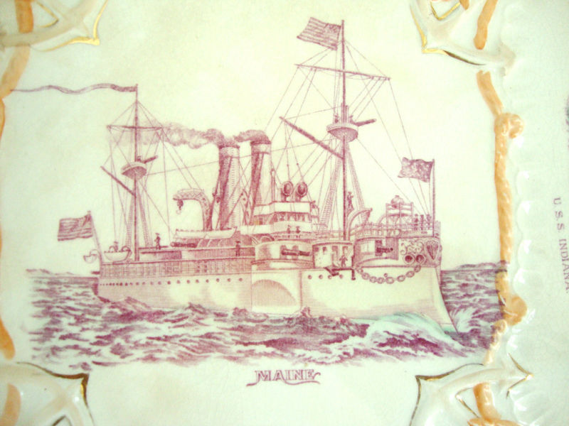 Great White Fleet Commemorative Platter ca 1906-1909