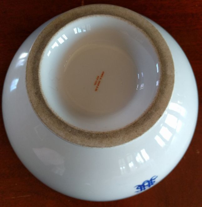 US Navy Serving Bowl with Footed Bottom