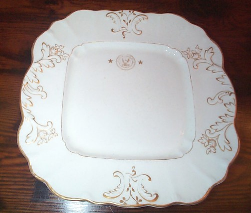 Square Candy Dish or Receiving Plate Dated 1909