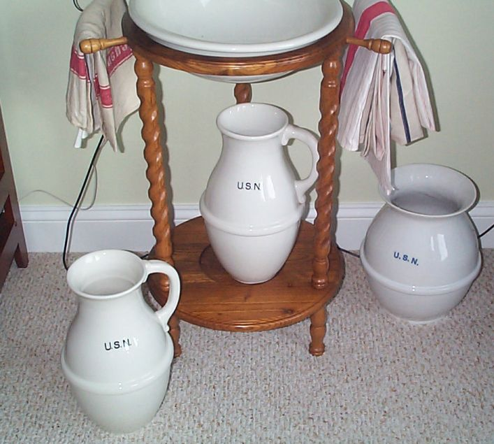 us navy enlisted porcelain floor mounted fresh water pitcher